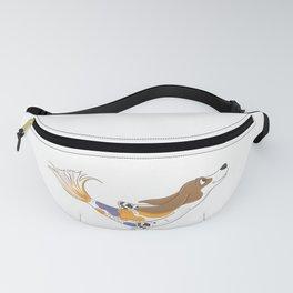 Mermaid Basset Hound Dog Fanny Pack