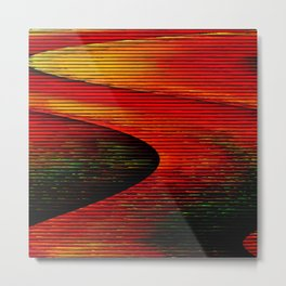 Abstract: travel to Mars Metal Print