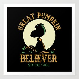 Great Pumpkin Believer Art Print