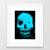 goonies Framed Art Prints featuring The Goonies by Dan K Norris
