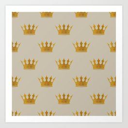 George Grey with Gold Crowns Art Print