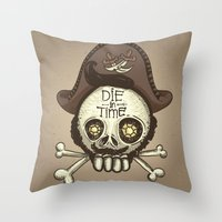 pirate Throw Pillows featuring pirate by adi katz