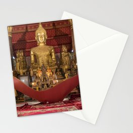 Monks at Work in the Temple IV - Luang Prabang, Laos Stationery Cards