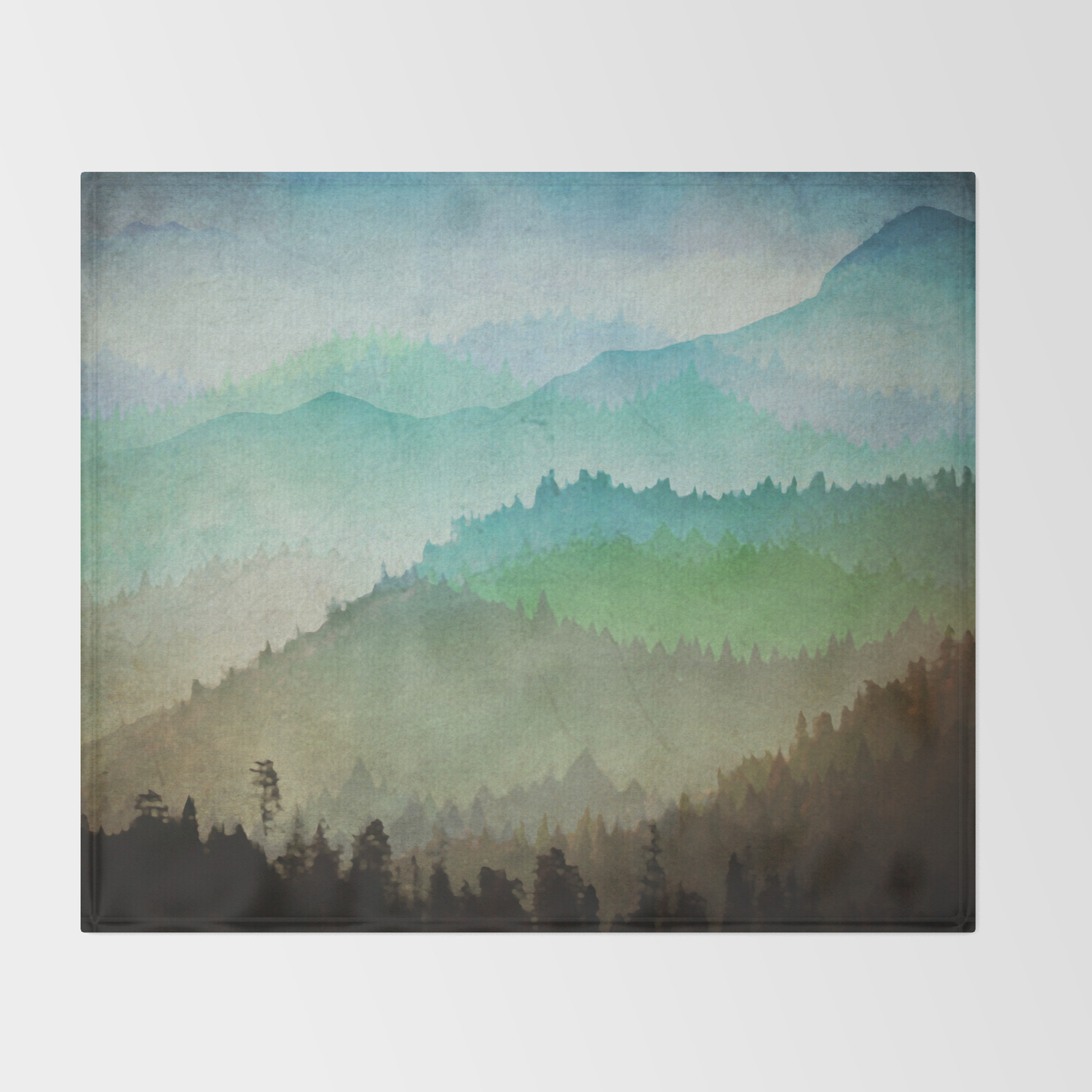 Watercolor Hills Throw Blanket By Amandaroyale Society6