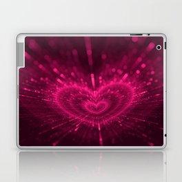 Purple Love Heart, Happy Valentine's Day Pattern Laptop & iPad Skin