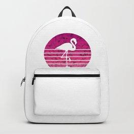 Flamingo Flamingos Walk Pink Colorful Retro Gift Backpack