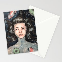 """""""Drowned"""" watercolor painting Stationery Cards"""