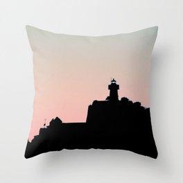 Seahorse island Throw Pillow