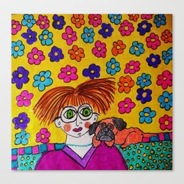 """""""Tallulah Thought She Had Smashing Taste In Decorating Even If No One Else Liked It"""" Canvas Print"""