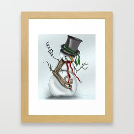 Frosty the Snowman Framed Art Print