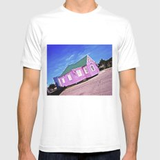Vivid colors. Mens Fitted Tee White MEDIUM