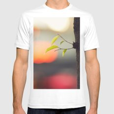 City life White Mens Fitted Tee MEDIUM