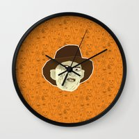freddy krueger Wall Clocks featuring Freddy Krueger by Kuki