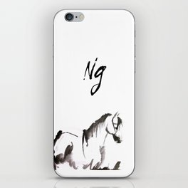 Watercolor Horse Painting iPhone Skin