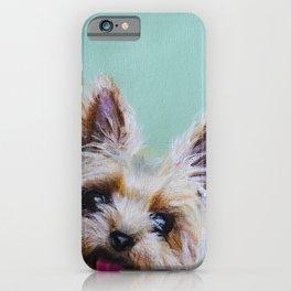 Peek-A-Boo Yorkie iPhone Case