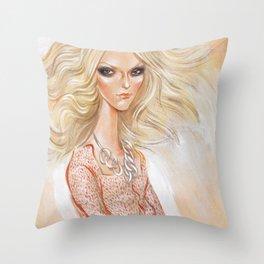 Fashion in White 1 Throw Pillow