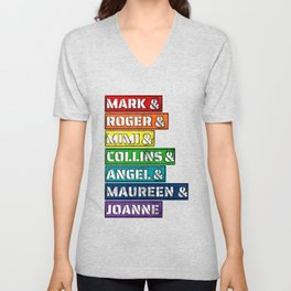 Rent Musical Character Names Unisex V-Neck