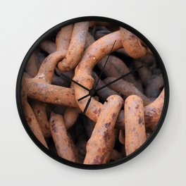 Rusty iron chain Wall Clock