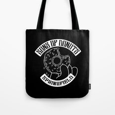 Sons Of Donuts / Simpsons / Donuts (BW version) Tote Bag