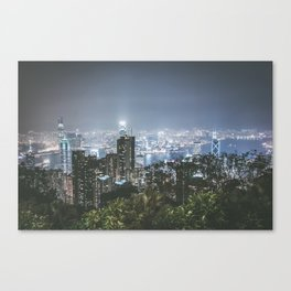 Hong Kong skyline from Victoria Peak Canvas Print