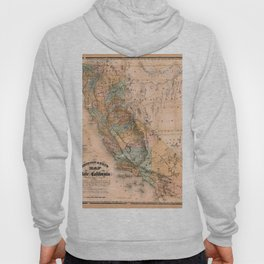 Map Of California 1861 Hoody