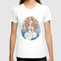 seashell T-shirts featuring Seashell Girl by Daniel Fernández