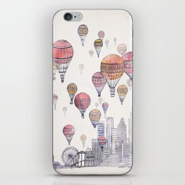 Voyages Over Santa Monica iPhone Skin