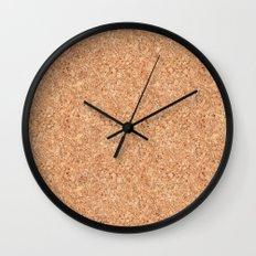 Real Cork Wall Clock