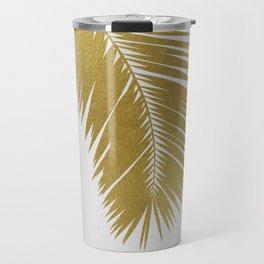 Palm Leaf Gold I Travel Mug