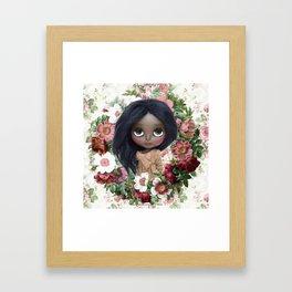 ERREGIRO JANET FLOWER CROWN Framed Art Print