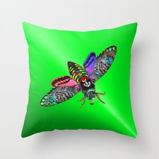 Goth Moth Throw Pillow