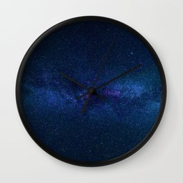 The Blue Galaxy (Color) Wall Clock