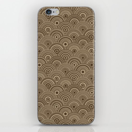 Orbis (Brown) iPhone & iPod Skin