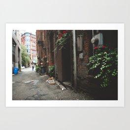 Beautiful Dark Alley Art Print