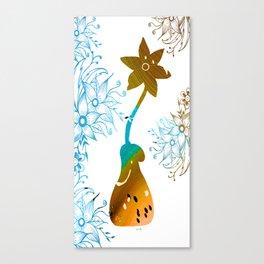Colorful Art Flower Vase 2 Canvas Print