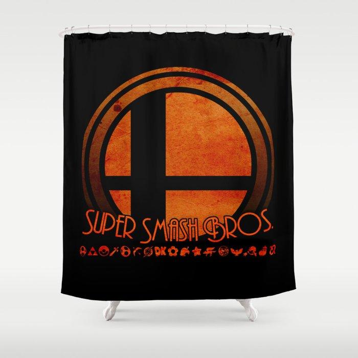 Super Smash Bros.  Shower Curtain