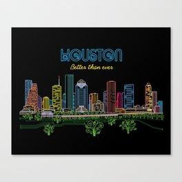 Houston Better Than Ever Circuit Canvas Print