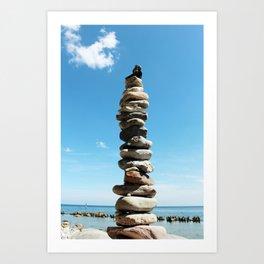 Stacked Stones Art Print
