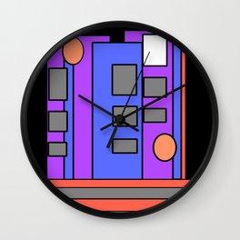 The Artist at Night Wall Clock
