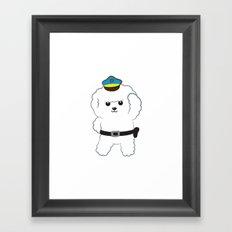 Animal police - Bichon Frisé Framed Art Print