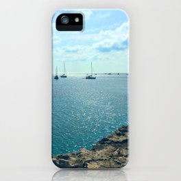 Mediterranean Sea Off of Menorca iPhone Case