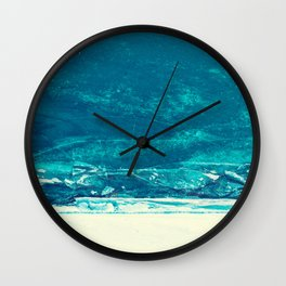 Icy Wave Pattern Wall Clock