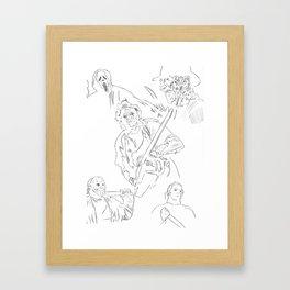 Horror Legends Framed Art Print