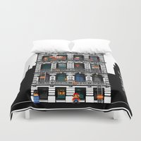 donkey kong Duvet Covers featuring Donkey Kong City by Ryan Huddle House of H