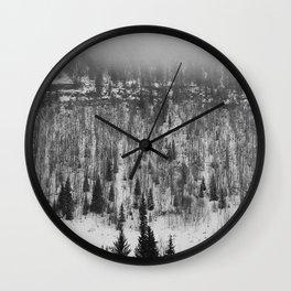 Foggy Trees Wall Clock