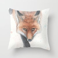 rogue Throw Pillows featuring The Rogue by Tahirih Goffic