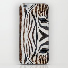 EYE OF THE ZEBRA iPhone Skin