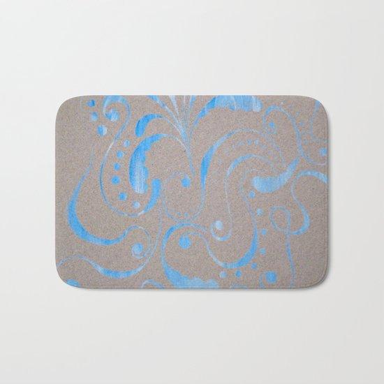 marbled design Bath Mat