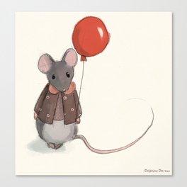 la souris au ballon Canvas Print