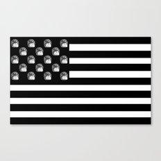 US Minifigure Flag - Horizontal Canvas Print